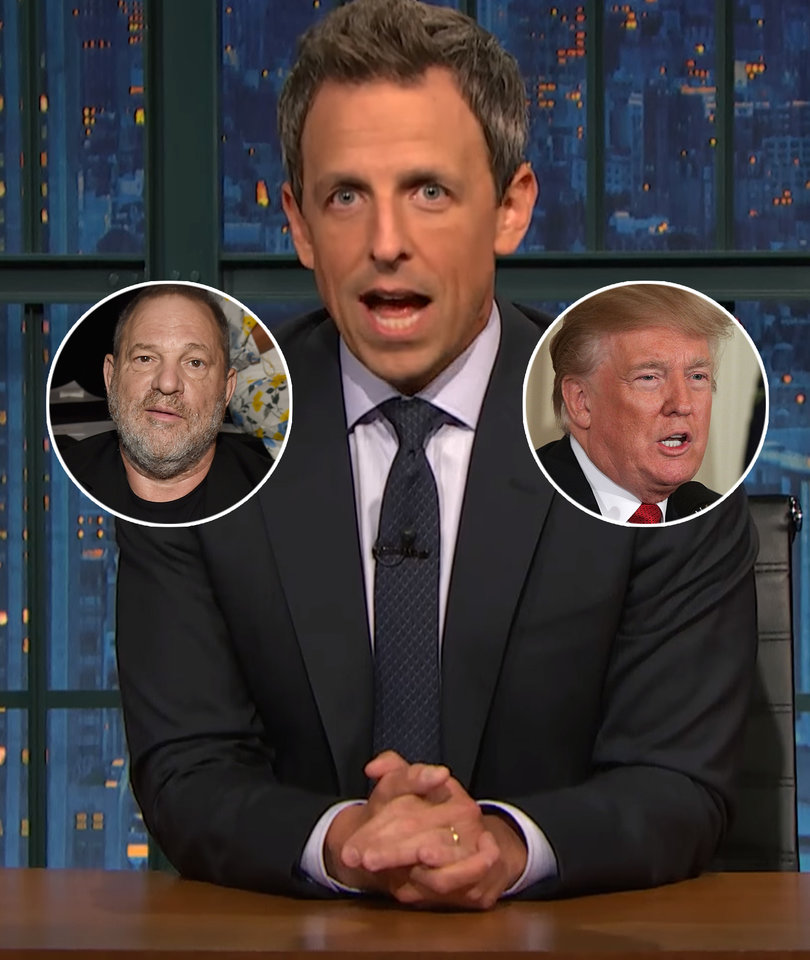 Seth Meyers Shreds Weinstein, Trump in Takedown of Men Who 'Bully' Women