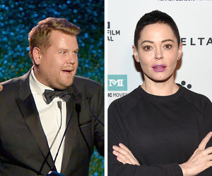 Rose McGowan Rips 'MOTHERF-CKING PIGLET' James Corden for Weinstein Jokes