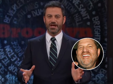 Jimmy Kimmel Just Called Harvey Weinstein a 'Misbehaving Cow'