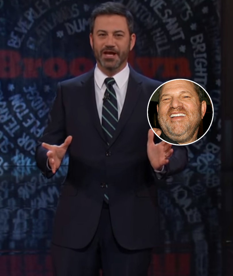 Jimmy Kimmel Just Called Harvey Weinstein a 'Misbehaving Cow'