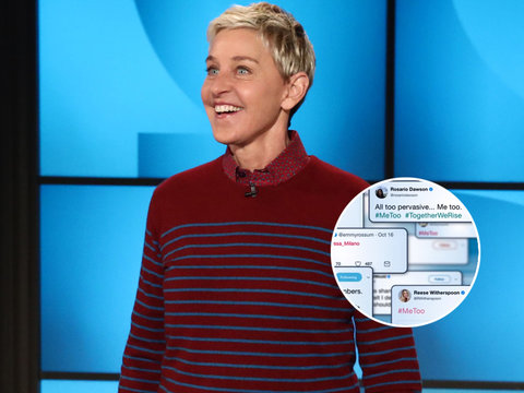 Ellen Joins #MeToo Movement: 'At Least We're Talking About It'