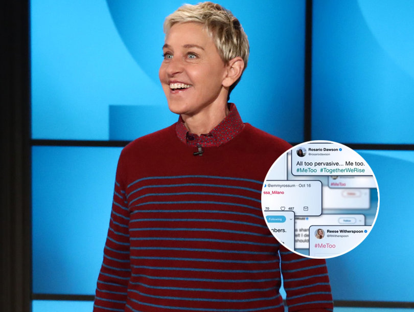 Ellen DeGeneres Joins #MeToo Movement: 'As Hard As This Is To Talk About, At Least We're Talking About It'