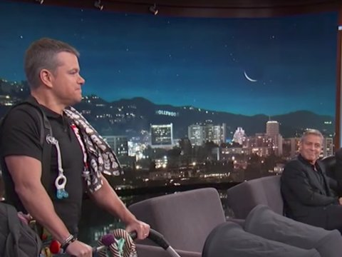 Matt Damon Uses George Clooney's Twins to Escalate Kimmel Feud