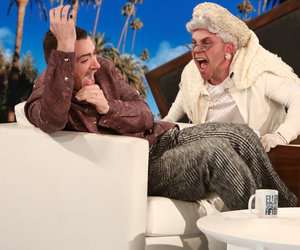 Ellen Scares the 'F-ck' Out of Sam Smith Twice in a Row