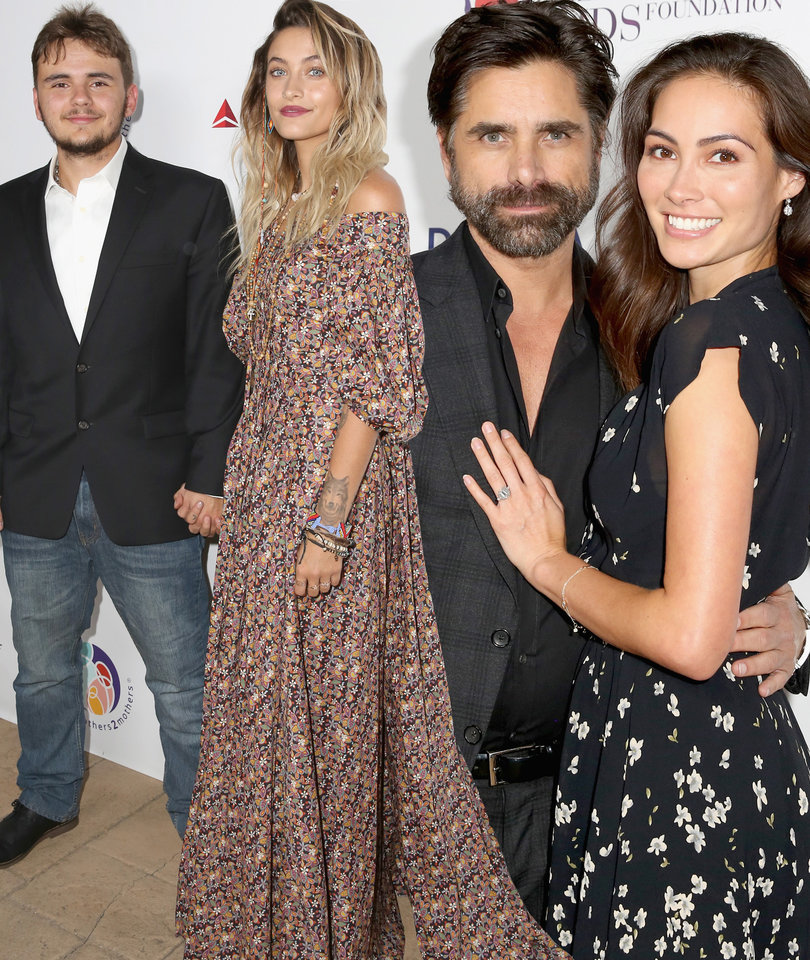 Jacksons Step Out, Stamos' Fiancé Debuts Ring at Elizabeth Taylor AIDS Benefit