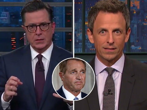 Late-Night Rips Senator Jeff Flake for Doing Too Little Too Late on Trump