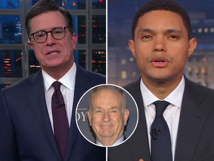 Stephen Colbert, Trevor Noah Roast Bill O'Reilly For Blaming God For Sexual Harassment Allegations