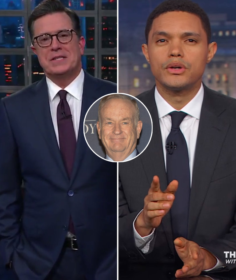 God Visits 'The Late Show' and 'The Daily Show' to Sound Off on Bill O'Reilly
