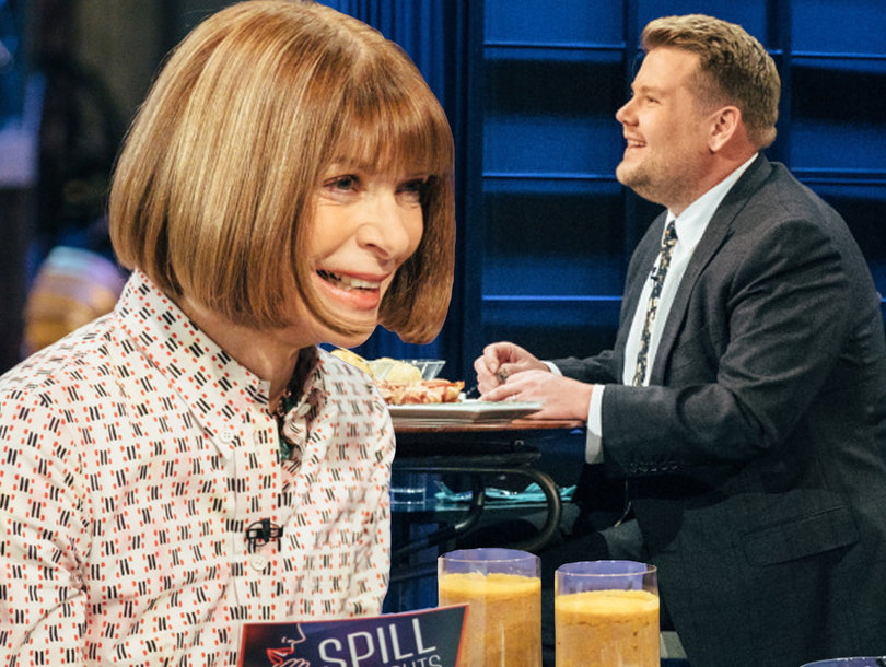 James Corden Eats Penis While Anna Wintour Disses Trump on 'Late Late Show'