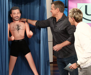 Ellen Tricks Matt Damon Into Becoming a Kimmel Blow-Up Doll Salesman