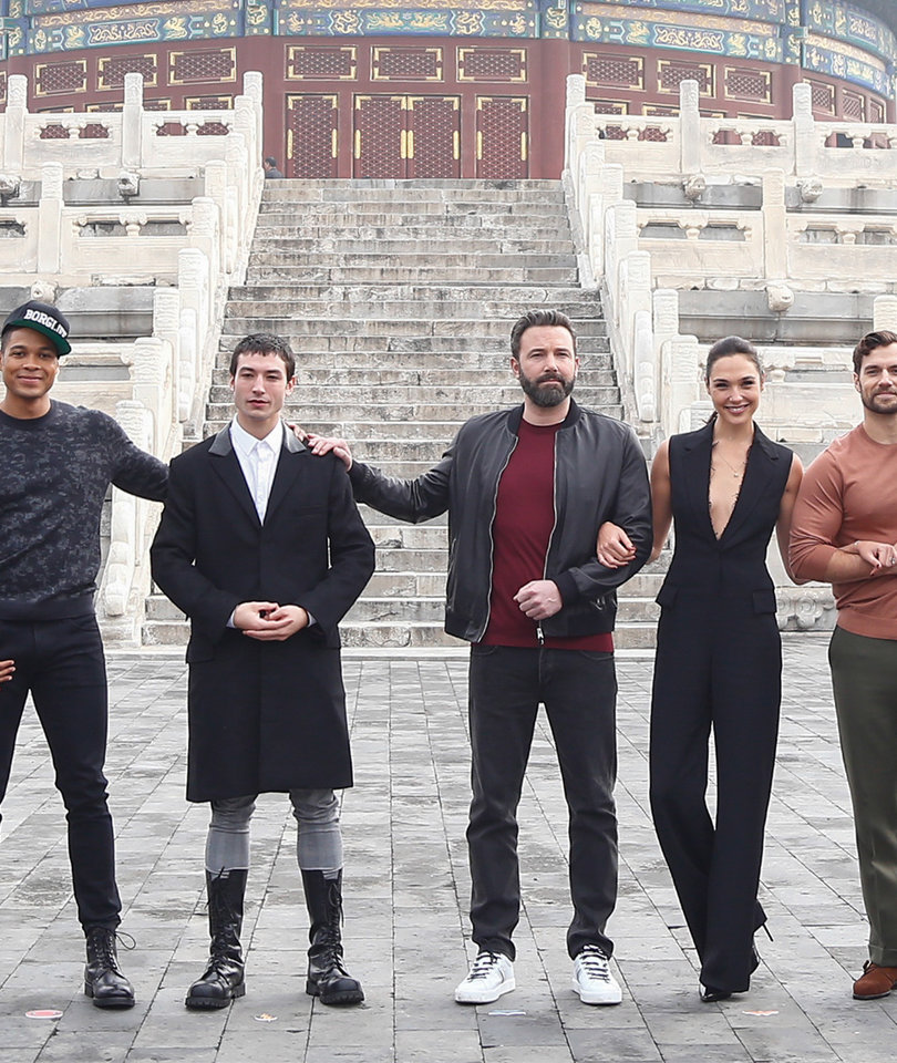 'Justice League' Cast Visits Temple Of Heaven on Beijing Press Tour