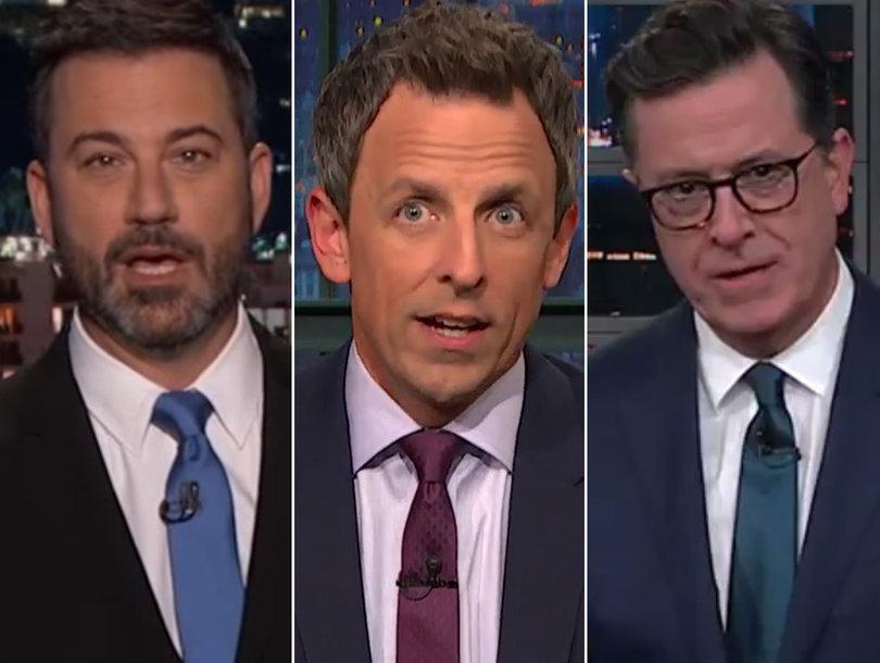 Late-Night Stars Tear Into Fox News, Lou Dobbs for Coddling Trump