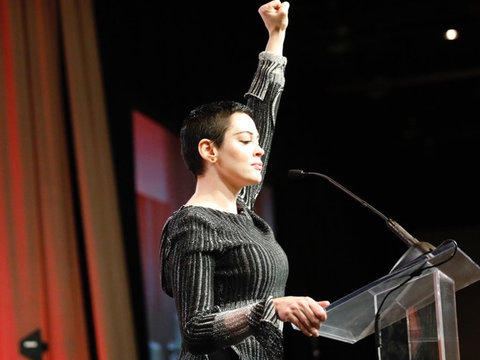 McGowan Says Monsters 'Must Die' In First Public Appearance Since Weinstein Allegations