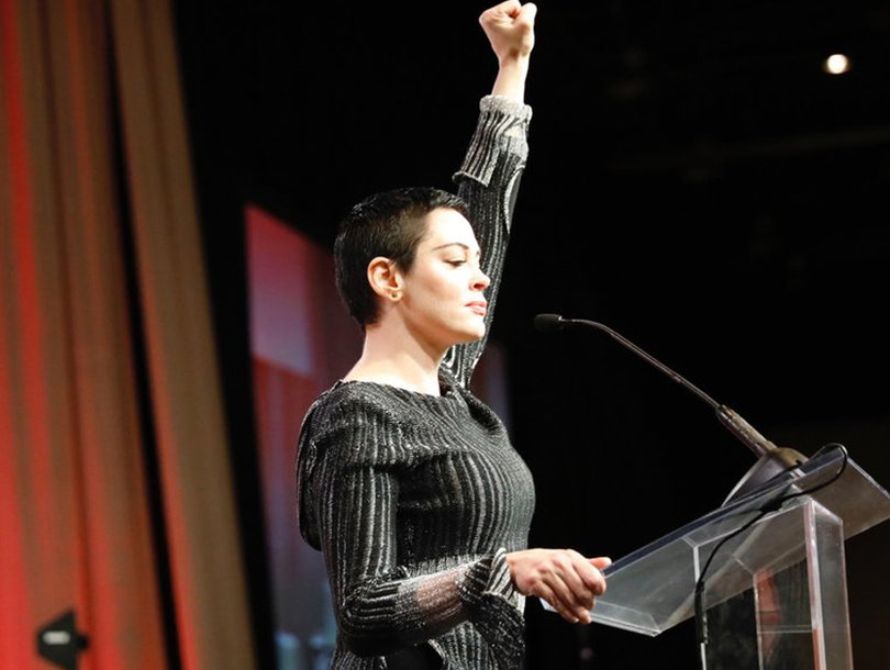 Rose McGowan Says Monsters 'Must Die' in First Public Appearance Since Weinstein Allegations