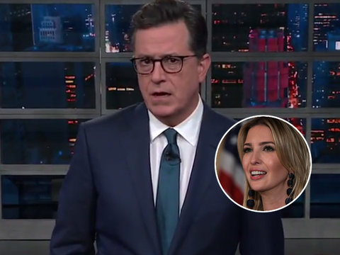 Stephen Colbert Schools Ivanka Trump Because 'She Doesn't Know What Words Mean'