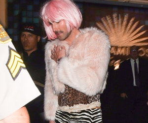 Adam Levine Dressed In Drag for Halloween