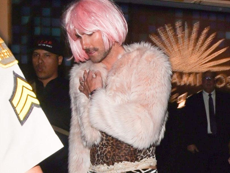 Adam Levine Dressed In Drag for Halloween