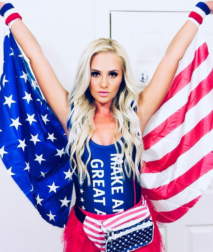 Twitter Rips Tomi Lahren and Her 'Disrespectful' American Flag Halloween Costume