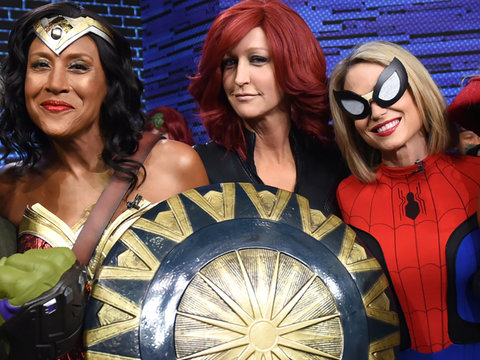 'Good Morning America' Hosts Go as Superheroes for Halloween