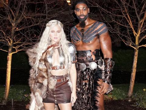 Khloe Kardashian and Tristan Thompson Win Best Couple's Costume