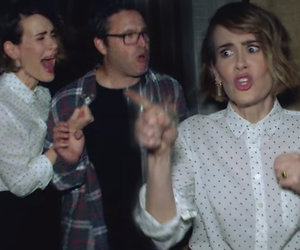 Ellen Terrifies Sarah Paulson (Again) With 'AHS' Haunted House