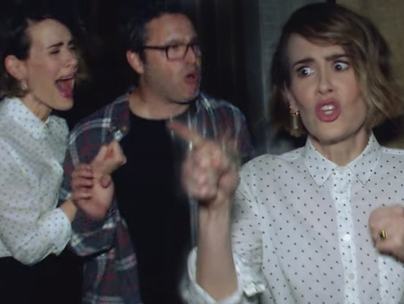 Ellen DeGeneres Scares Sarah Paulson (Again) With 'American Horror Story' Haunted House