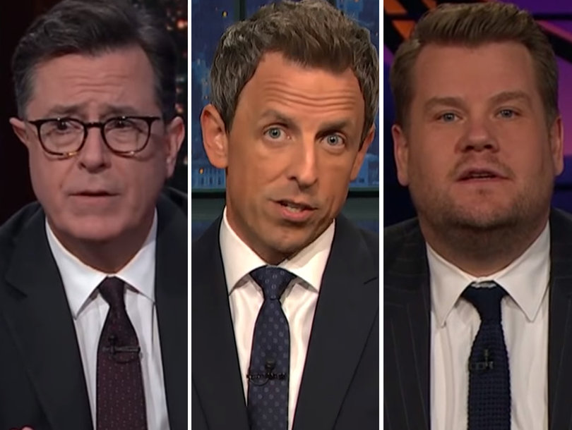 Late-Night Hosts Slam Trump, Demand Gun Control After Texas Shooting