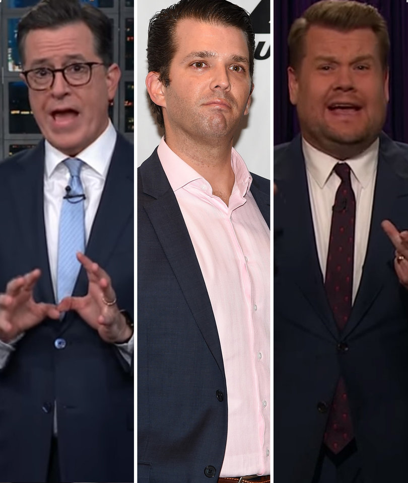 Colbert, Corden Pummel Donald Trump Jr. for Tweeting Wrong Day to Vote