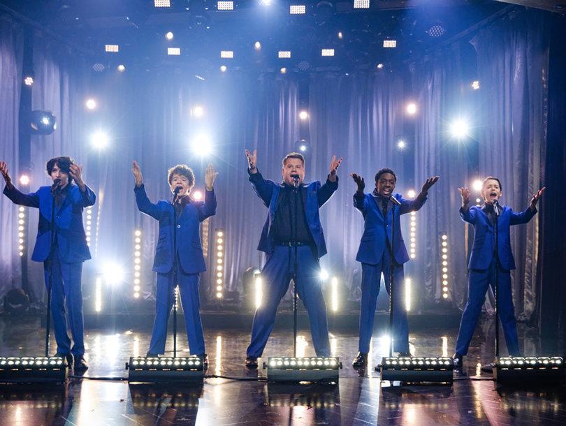 'Stranger Things' Boys and James Corden Crush Jackson 5, 'My Girl' as Motown Cover Band