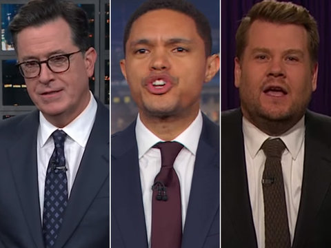 Late-Night Hosts Rail on Republicans While Celebrating Election Results