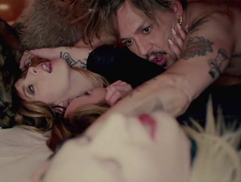 Johnny Depp Has a Foursome with Marilyn Manson In NSFW 'KILL4ME' Music Video