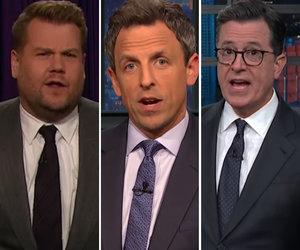 Late-Night Hosts Trash Trump for Awkward Handshakes, Juvenile Tweet