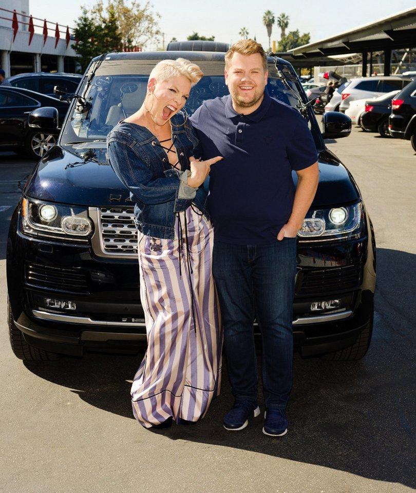 Pink Sings Upside Down With James Corden in 'Carpool Karaoke'