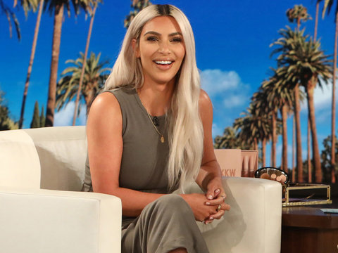 Kim Kardashian Accidentally Tells Ellen the Gender of Her Next Child