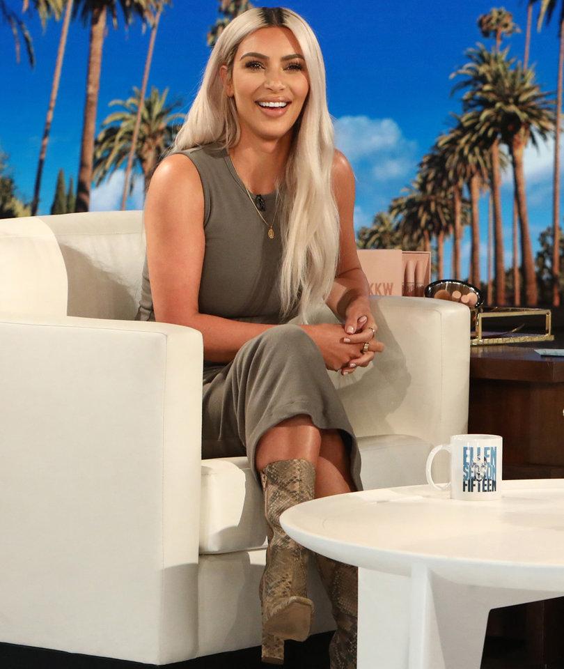 Kim Kardashian Accidentally Tells Ellen the Gender of Her Next Child