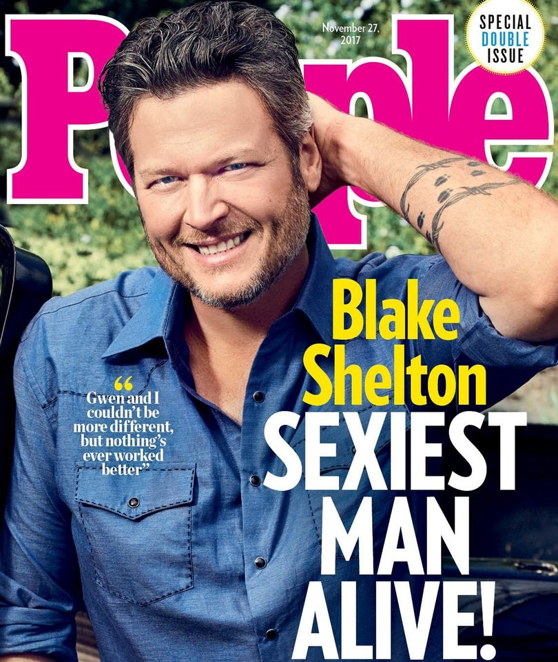 Blake Shelton Named People's Sexiest Man Alive And Twitter Is Not Having It