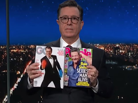 Stephen Colbert Refuses to Accept Blake Shelton as Sexiest Man Alive