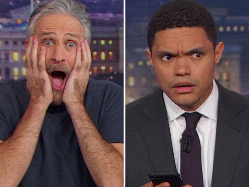 Jon Stewart Crashes 'Daily Show' to Help Trevor Noah Roast Roy Moore