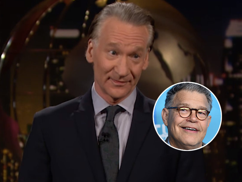 Bill Maher Says Al Franken 'Doesn't Deserve to Be Lumped In' With Weinstein, Trump, Spacey and Moore