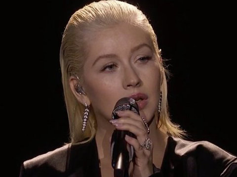 Christina Aguilera Honors Whitney Houston with Powerful American Music Awards Performance