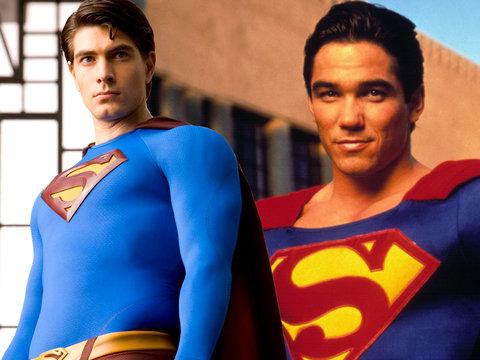 Two Superman Actors Collide in the Sky