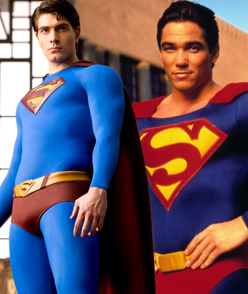 Two Superman Actors Collide in the Sky