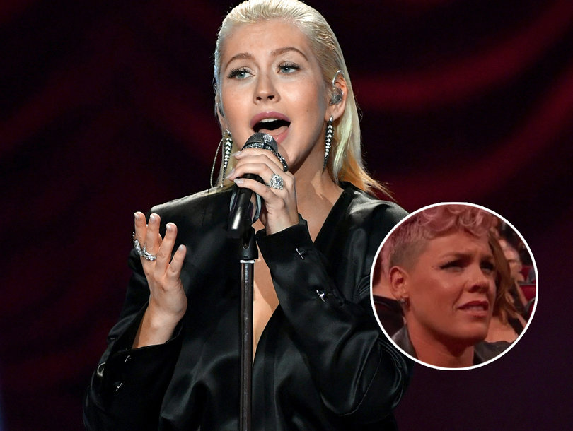 P!nk Disputes 'Riff' With Christina Aguilera After AMA Performance Reaction Was Misinterpreted as Shade