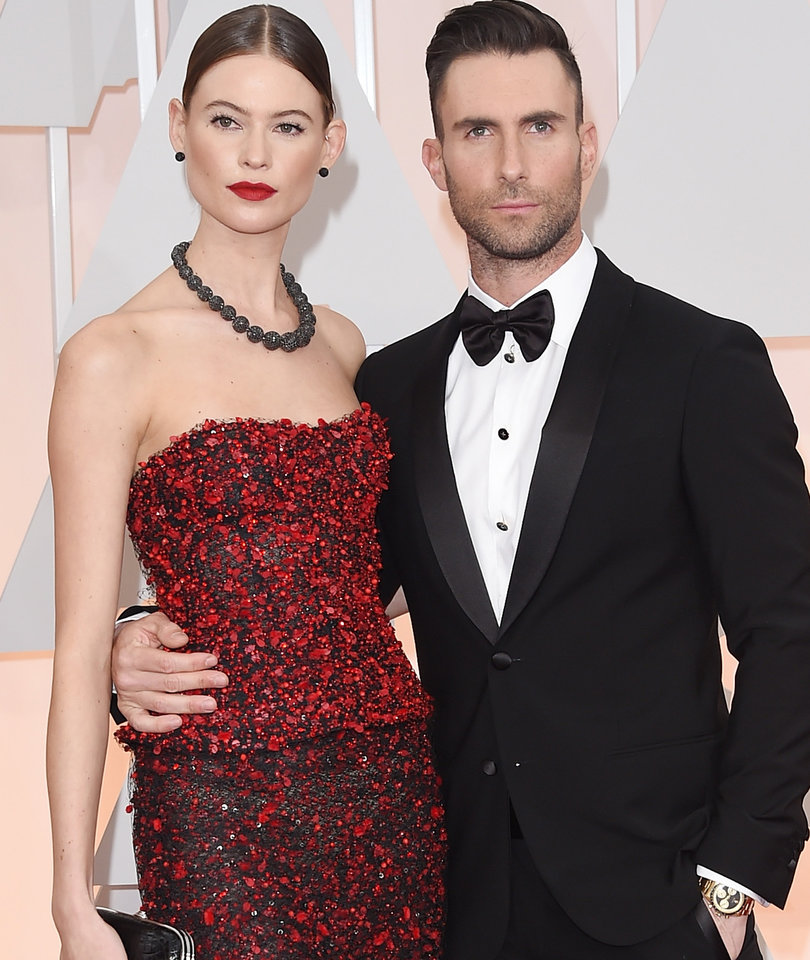 Behati Prinsloo Shares Snap of Adam Levine and Baby Dusty Rose's Peaches