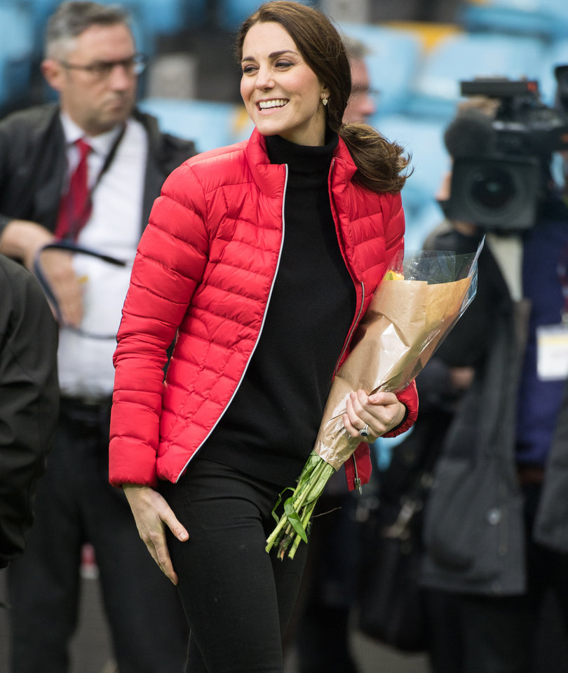 Kate Middleton Shows Off Tiny Baby Bump