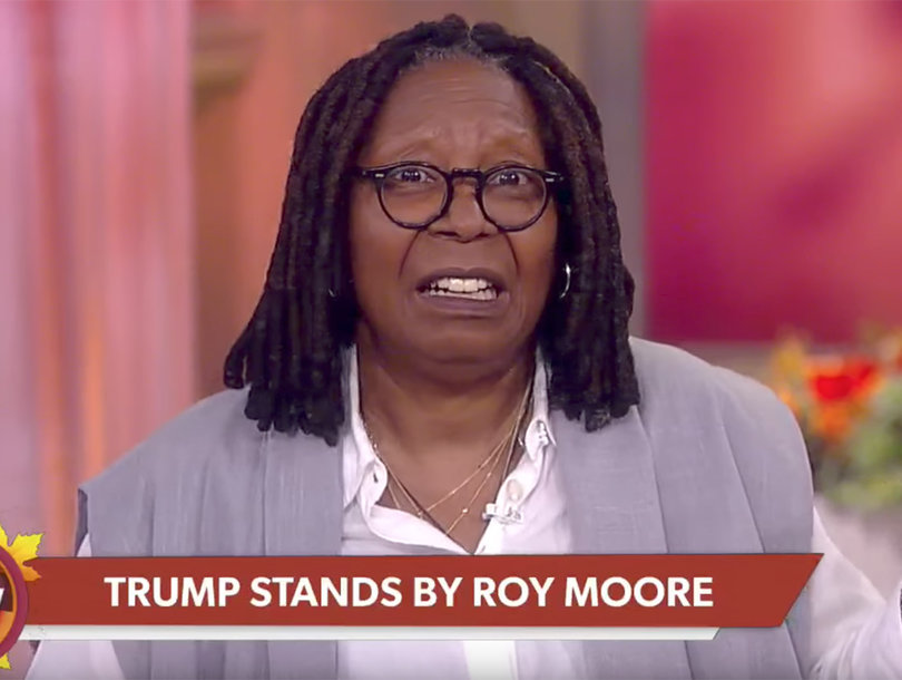 Whoopi Rips Trump on 'The View' for Supporting Roy Moore: 'I Guess All Women Are Liars, Right?'