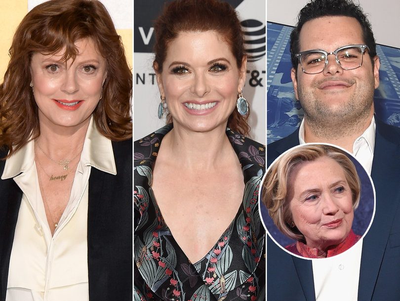 Debra Messing, Josh Gad Clap Back at Susan Sarandon for Bashing Hillary Clinton