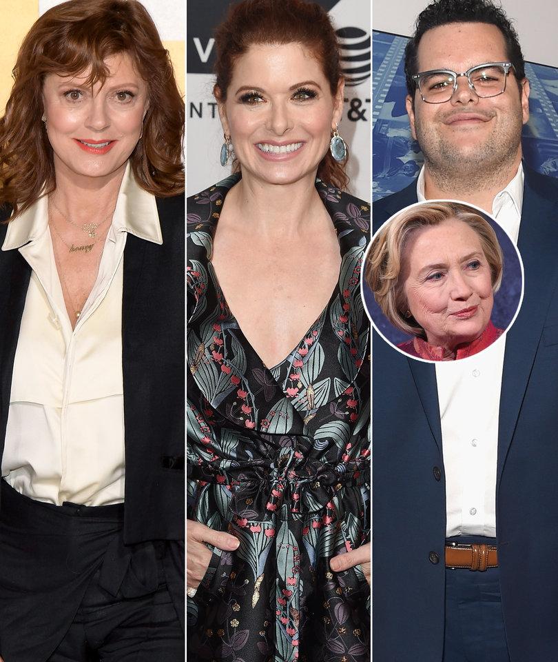 Debra Messing, Josh Gad Clap Back at Susan Sarandon for Bashing Hillary Clinton