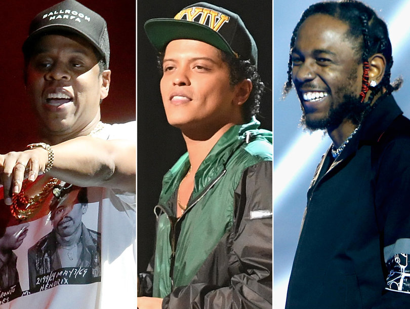 Grammy Nominations 2018: Jay-Z, Bruno Mars and Kendrick Lamar Lead the Pack