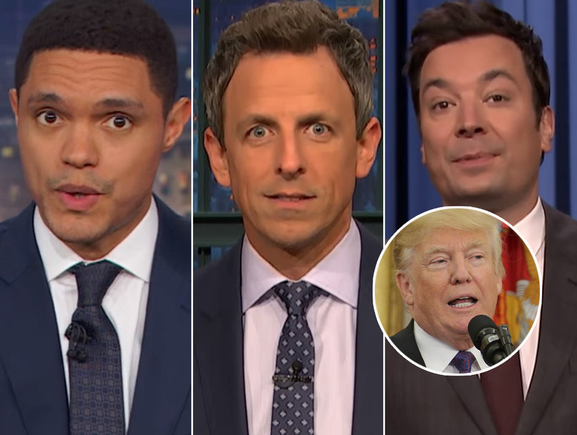 Late-Night Stars Trample Trump for 'Pocahontas' Jab During Native American Ceremony